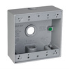Hubbell TayMac 32-cu in 2-Gang Metal Square Weather Resistant Wall Electrical Box