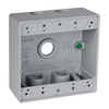 Hubbell TayMac 31-cu in 2-Gang Metal Square Weather Resistant Wall Electrical Box