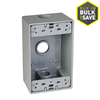 Hubbell TayMac 18.3-cu in 1-Gang Metal New Work Weather Resistant Wall Electrical Box