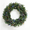 Holiday Living 30-in Indoor/Outdoor Green Artificial Christmas Wreath with Multicolor LED Lights
