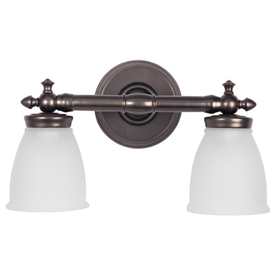 Delta Bathroom Vanity Lights : Shop DELTA 2-Light Bronze Bathroom Vanity Light at Lowes.com