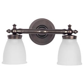 48 Vanity Light Bronze : Shop DELTA 2-Light Bronze Bathroom Vanity Light at Lowes.com