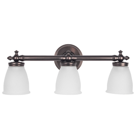 Shop DELTA 3Light Victorian OilRubbed Bronze Bathroom Vanity Light