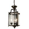 Checkolite International 9-7/8-in W Aged Bronze Pendant Light with Clear Shade