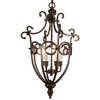 Portfolio Fiore 4-Light Aged Copper Wrought Iron Chandelier