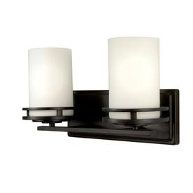 Lowes Black Vanity Lights : Shop Checkolite International 2-Light Black Bathroom Vanity Light at Lowes.com