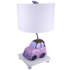 Checkolite International 17-1/2-in Pink Table Lamp with White Shade