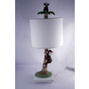 Checkolite International 17-in Brown Table Lamp with White Shade