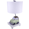Checkolite International 17-1/2-in Green Table Lamp with White Shade
