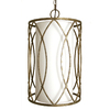 Checkolite International 3-Light Hulton Specialty Pewter Chandelier