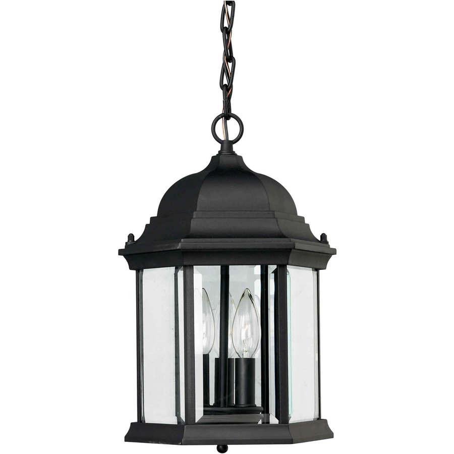 shop 15 in h black outdoor pendant light at. Black Bedroom Furniture Sets. Home Design Ideas