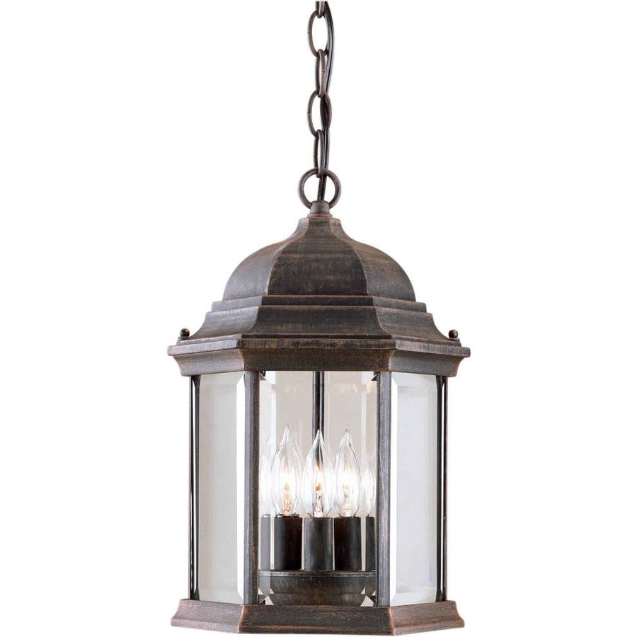 Outdoor Hanging Lanterns Lowes: Shop 15-in H Painted Rust Outdoor Pendant Light At Lowes.com