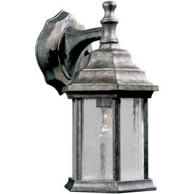 12-in H River Rock Outdoor Wall Light