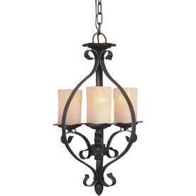 Shandy 11.5-in W Natural Iron Pendant Light with Tinted Glass Shade