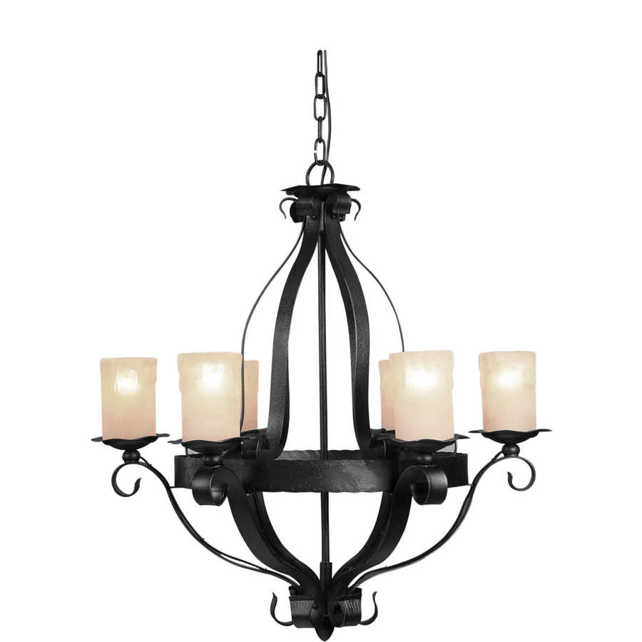 shop shandy 6 light natural iron chandelier at