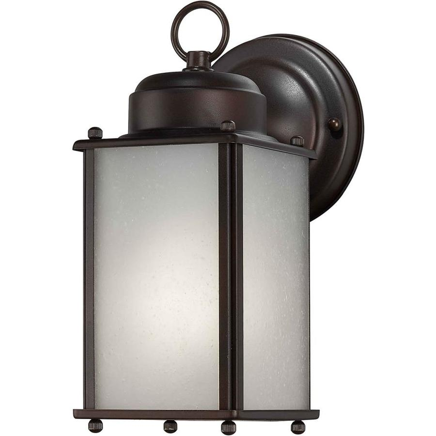 shop 10 in h antique bronze outdoor wall light at. Black Bedroom Furniture Sets. Home Design Ideas