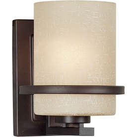 5-in W 1-Light Antique Bronze Arm Wall Sconce