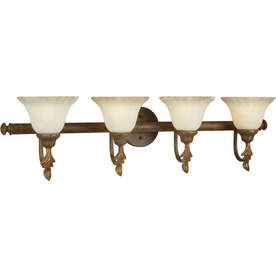 4-Light Shandy Chestnut Bathroom Vanity Light