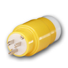 Gardner Bender 1/3-ft 12 AWG Yellow Plastic Power Cord