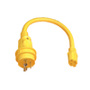 Gardner Bender 1-1/2-ft 10 AWG Yellow Plastic Power Cord