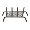 1/2-in Steel 18-in 4-Bar Fireplace Grate with Ember Retainer