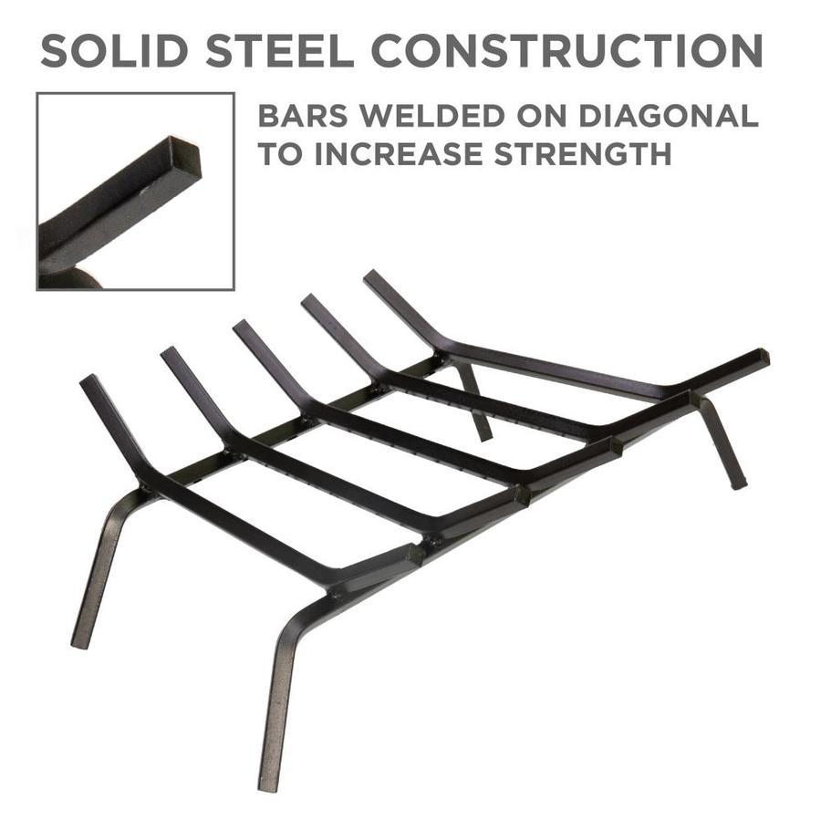 "30/"" 6-Bar 1//2/"" Solid Steel Fireplace Log Grate /& Ember Retainer"