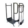 Style Selections 30.11-in x 26.1-in x 11.1-in Steel Indoor Log Rack