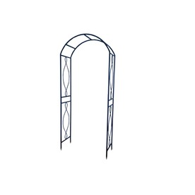 Garden Treasures 39.3-in W x 90.5-in H Black Opp Garden Arbor