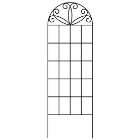 allen + roth 20-in W x 60-in H Black Scroll Garden Trellis