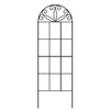 Garden Treasures 12-in W x 36-in H Black Scroll Garden Trellis