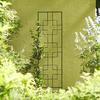 Garden Treasures 12-in W x 48-in H Black Trellis