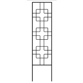 allen + roth 12-in W x 48-in H Black Zen Garden Trellis