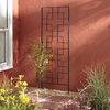 Garden Treasures 24-in W x 72-in H Black Trellis