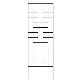 Garden Treasures 24-in W x 72-in H Black Contemporary Geometrics Garden Trellis