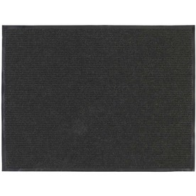 Blue Hawk 72-in x 48-in Charcoal Rectangular Door Mat