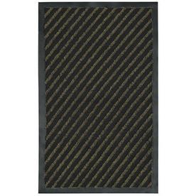 Blue Hawk Black/Green Rectangular Door Mat (Common: 24-in x 36-in; Actual: 24-in x 36-in)