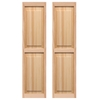 Pinecroft 2-Pack 15-in x 55-in Tan Raised Panel Wood Exterior Shutters