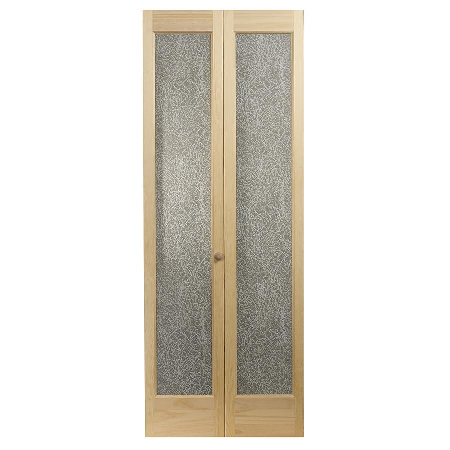 Shop Pinecroft 1 Lite Solid Core Pine Bifold Closet Door
