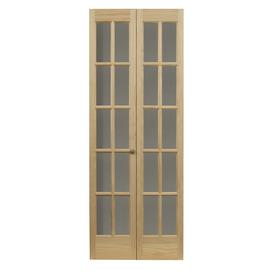 Pinecroft Solid Core 10-Lite Pine Bi-Fold Closet Interior Door (Common: 36-in x 80-in; Actual: 35.5-in x 78.625-in)