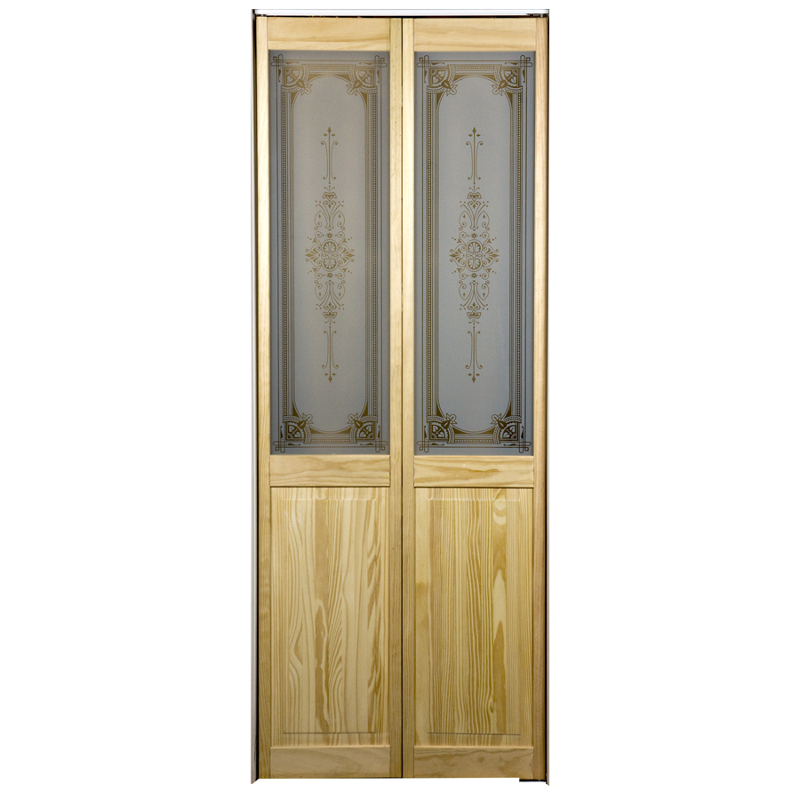 Bifold Doors 78 33 : Shop pinecroft lite solid core pine bifold closet door
