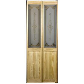 Pinecroft 1-Lite Solid Core Pine Bifold Closet Door (Common: 30-in x 80.5-in; Actual: 29.5-in x 78.625-in)