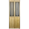 Pinecroft 35-1/2-in x 78-3/4-in 1-Lite Solid Core Pine Interior Bifold Closet Door