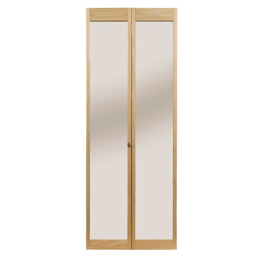 Shop Pinecroft 24 In X 6 Ft 8 1 2 In Full Mirror Bifold Door At Lowes Com