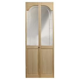 24 in x 6 ft 8 1 2 in mirror over panel bifold door at