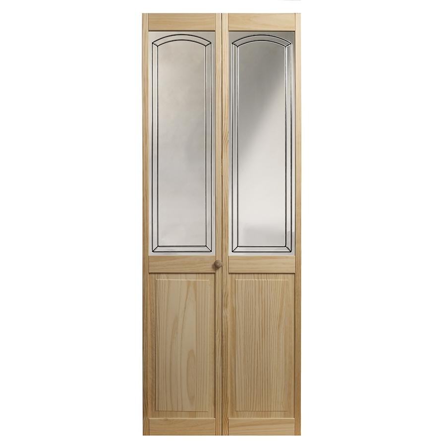 36 in x 6 ft 8 1 2 in mirror over panel bifold door at