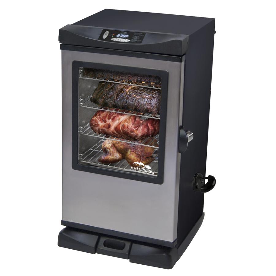 Shop masterbuilt 33 7 in 800 watt electric vertical smoker for Smoked fish in masterbuilt electric smoker