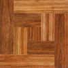 Style Selections 12-in x 12-in Chalet Wood Parquet Finish Vinyl Tile