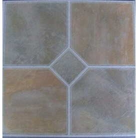 Cryntel 12-in x 12-in Verdi Peel-and-Stick Slate Residential Vinyl Tile