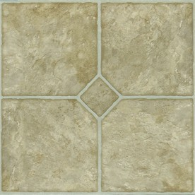 Style Selections 12-in x 12-in Beige Slate Finish Vinyl Tile