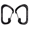Nite Ize 3.1-in Black Locking D-Shaped Straight Carabiner